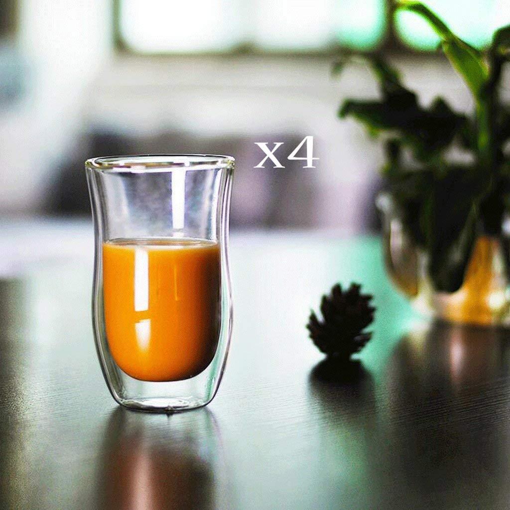 Kitchen Tea Set Porcelain Drinkware Set Saucers Transparent Double Glass Cup Insulation Coffee Mug Creative Heat-Resistant Flowers Tea Set Drinking Glass 200ML4
