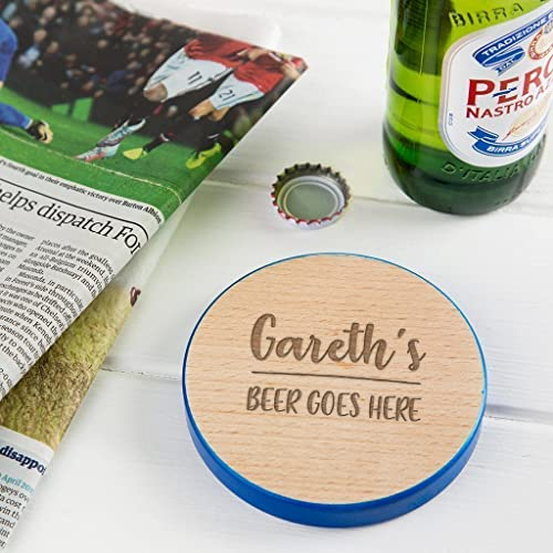 Personalised Wooden Coaster Birthday Gifts For Men 50th Present 21st