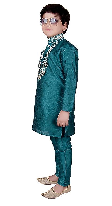 b4d9b848d Desi Sarees Boys Indian Kurta Pyjama Sherwani Apparel 919 Blue:  Amazon.co.uk: Clothing