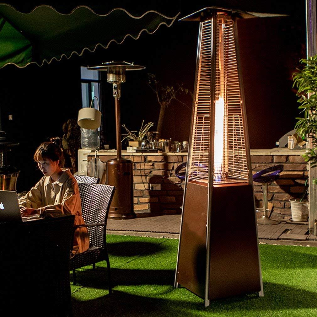 Hehilark - Estufa para terraza, pirámide, de Gas, 12 kW, de Acero Inoxidable, para terraza: Amazon.es: Jardín