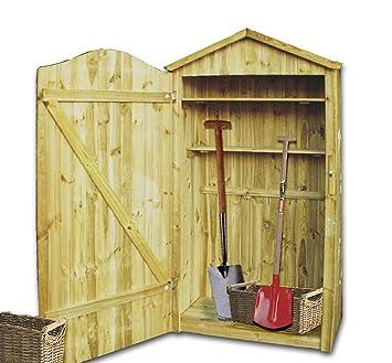 Gartenschrank Holz gartenschrank aus holz amazon de garten