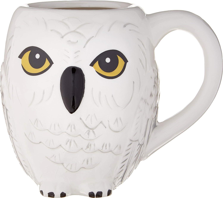 Silver Buffalo HR1595B Harry Potter Hedwig 3D Sculpted Ceramic Mug, 20-ounces, White