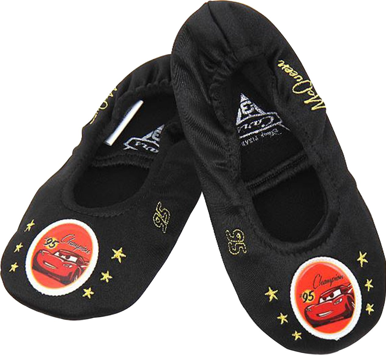 Disney Cars Boy's Girl's Black Ballet Flat Dance Shoes Runs Small (Parallel Import/Generic Product) (9.5 M US Toddler)