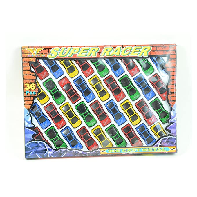 36 Pc Super Racer Die Cast Cars $6.99