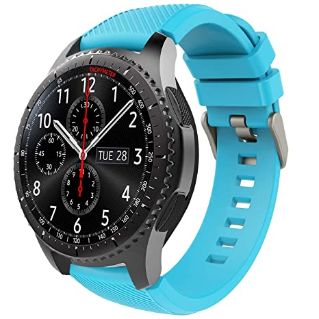 TiMOVO Band Compatible with Samsung Gear S3 Frontier/Galaxy Watch 46mm, Soft Silicone Strap with Watch Lug Fit Samsung Gear S3 Frontier/S3 ...