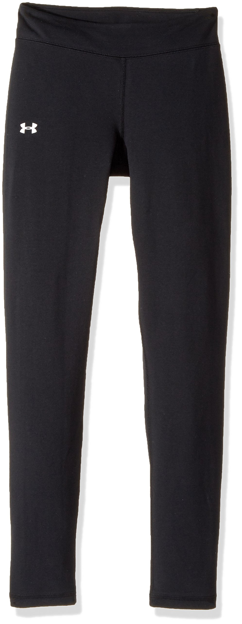 Under Armour Girls Favorite Knit Leggings, Black (001)/White, Youth X-Large by Under Armour