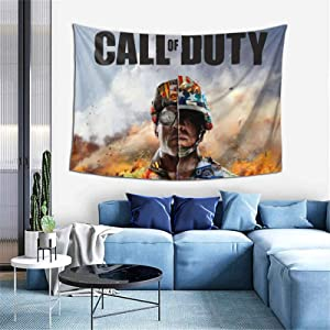 GIPHOJO Tapestry C-All of D-uty Modern W-arf-are Gaming Tapestries Wall Art Hanging Dorm Decor for Bed Dorm Office Background On Birthday Party Decorations Banner One Size in Gifts