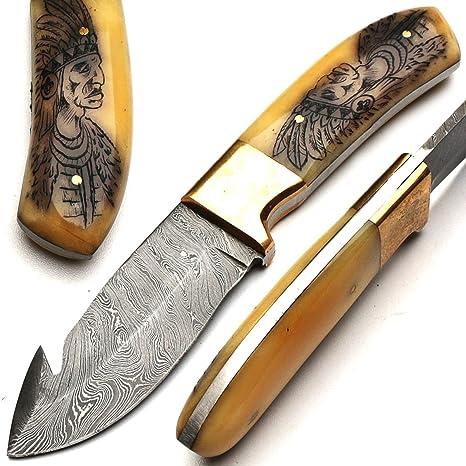 4t-m1uq-lzie-8570 damasco cuchillo de la mano sobre medida - 21 cm ...