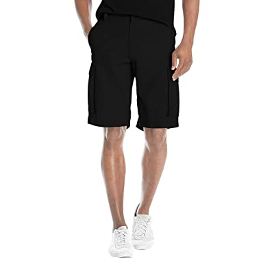 Agile Mens Super Comfy Stretch Flex Waist Cargo Shorts Flat Front Chino at Men's Clothing store