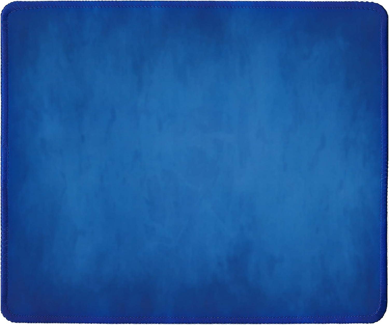 Silent Monsters Alfombrilla de ratón tamaño L (360 x 250 mm) de tela, diseño de alfombrilla de ratón, color azul, borde cosido, adecuado para ratón de oficina y gaming.