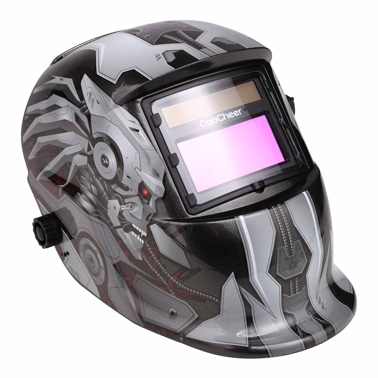 Lantusi Auto-darkening Welding Helmet with Personalized Pattern Professional Protected Solar Power Arc by Lantusi