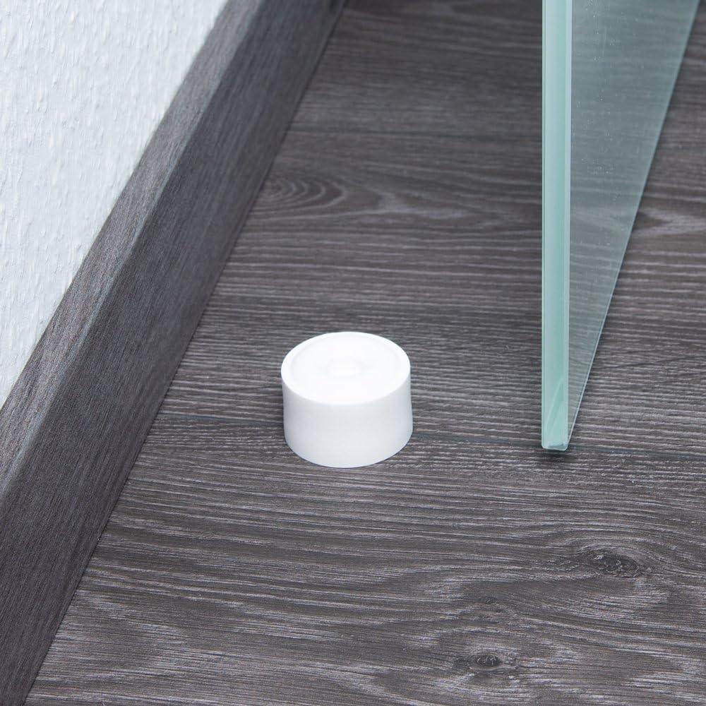 Proteccion de la Pared apropiada para el Montaje en el Suelo TPE Sossai 2 x Tope de Puerta//Tope de amortiguaction de Puerta NTS3-28 Material : Plasctico Model: Jupp| Color: Blanco