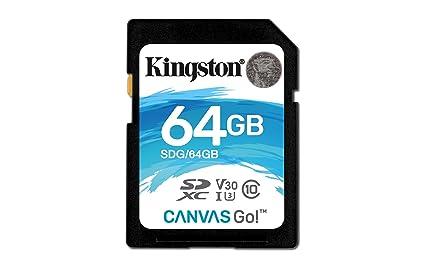 Kingston SDG/64GB Tarjeta Sd de 64 Gb, Negro