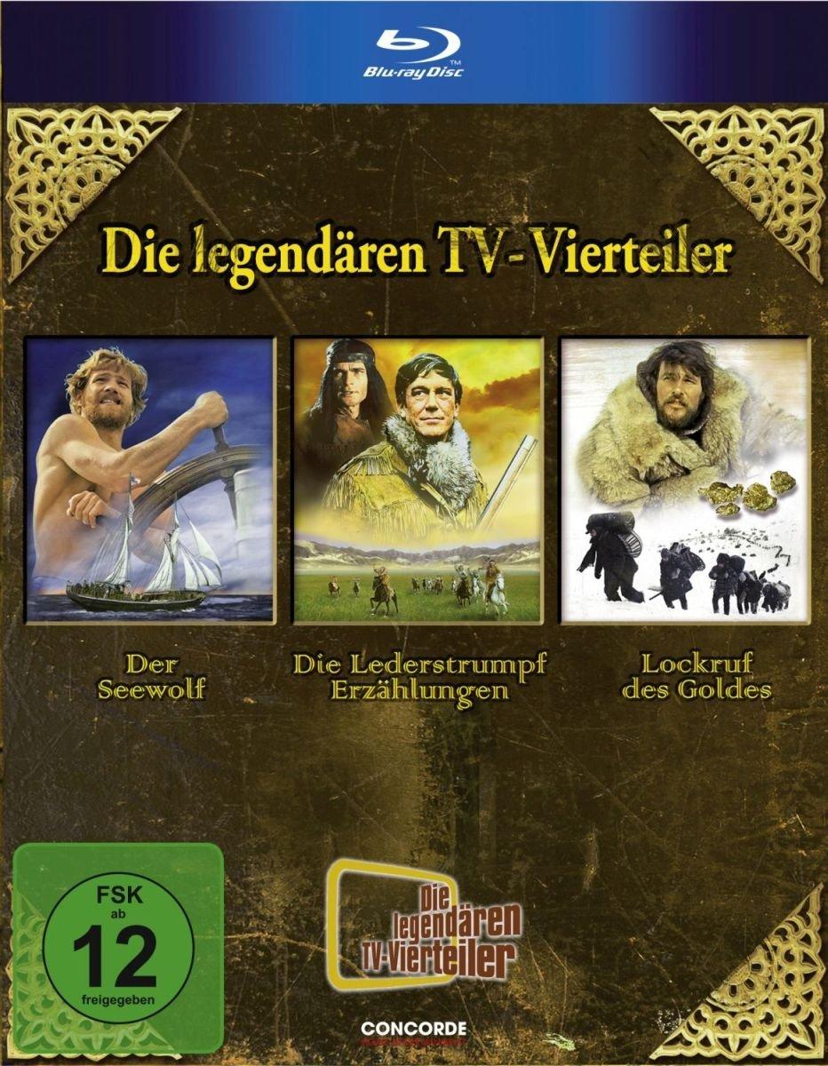 Die legendären TV-Vierteiler: ''''Der Seewolf'''' / ''''Lederstrumpf'''' / ''''Lockruf des Goldes'''' by