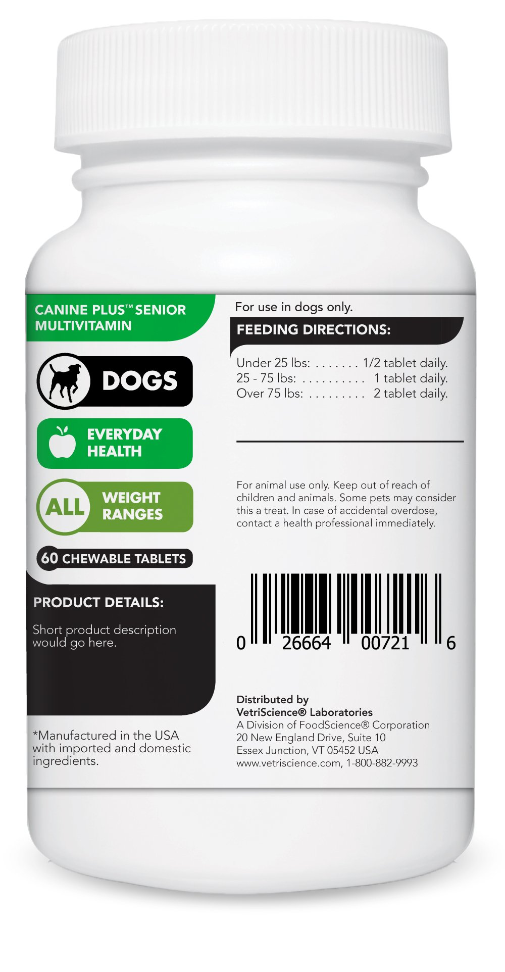 vetri science canine plus multi vitamin health for dog
