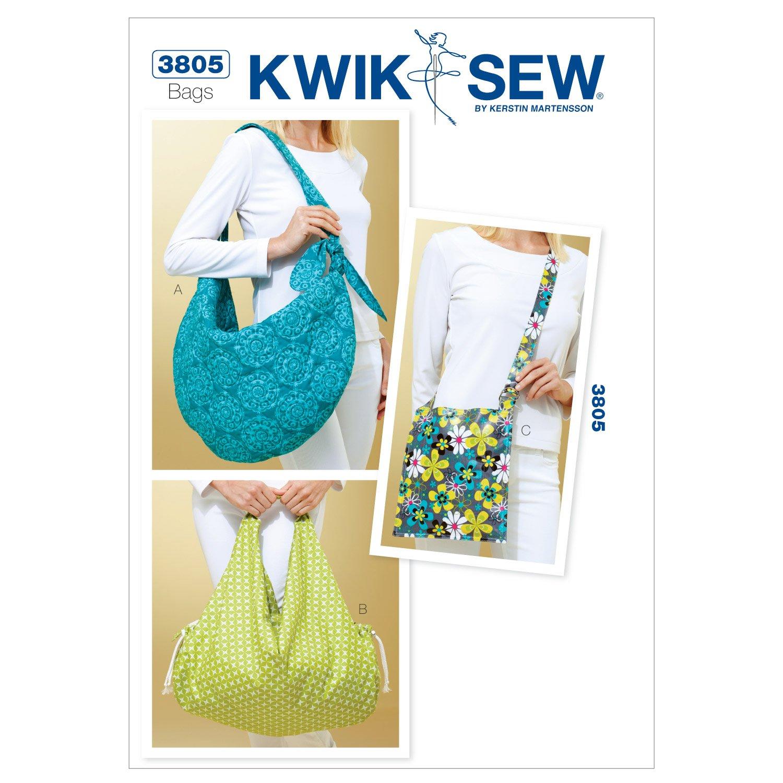 Kwik Sew K3805 Metro Bags Sewing Pattern, No Size McCall Pattern Company K3805OSZ