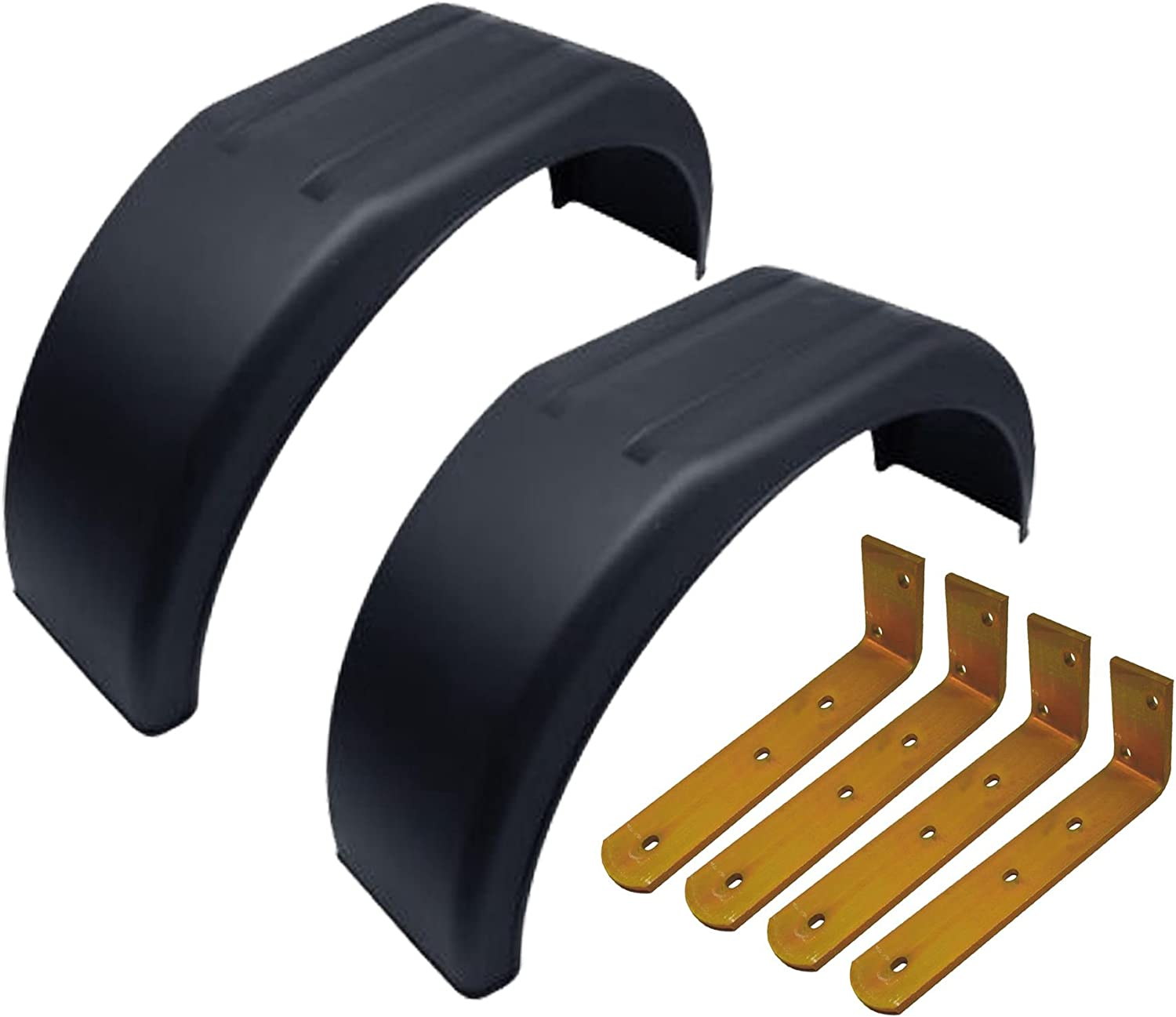 AB Tools-Maypole 13 Metal Mudguards Fender Brackets Pair 4 Pack Offset Fit /& Mud Guard Angle Large