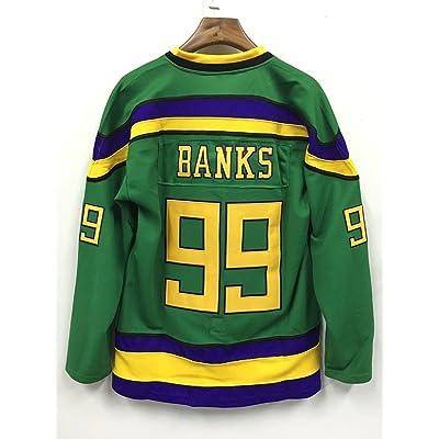 CoreSpot Adam Banks 99 Ducks Hockey Jersey S-XXXL Green
