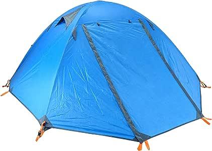TRIWONDER Tienda de Campaña 1/2/3 Personas Impermeable Ligera 4 Estaciones Doble Capa Carpa para Acampar Playa Exterior Senderismo Viaje (Azul - 2 Personas): Amazon.es: Deportes y aire libre
