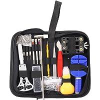 VABNEER Di Riparazione Orologi kit 147PCS Guarda professionale kit Repair Tool Orologi Strumenti kit Con Una Zip Di Nylon Che Trasportano Custodia