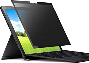 Microsoft Surface Pro 7/6/5/4/3 Privacy Screen Protector Filter,Easy On/Off Removable Screen Film,Tuxlke Anti-Spy/Anti-Glare Glass Laptop Filter (12.3 inch)