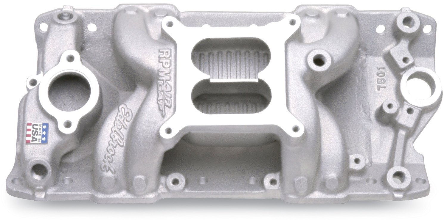 2. Edelbrock 7501 Performer RPM Air-Gap Intake Manifold