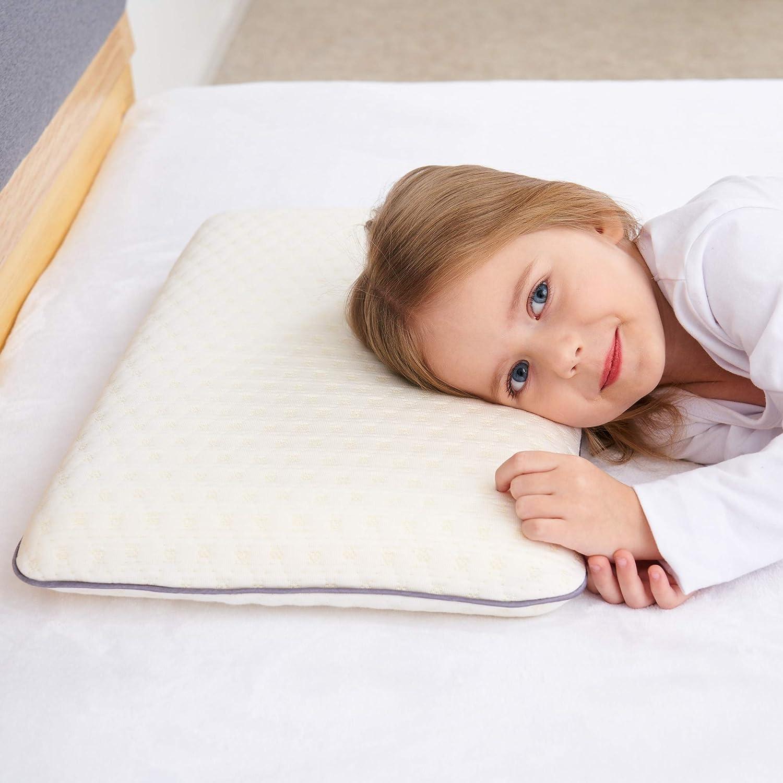 SIKAINI Almohada para niños Almohada para niños con Espuma viscoelástica Almohada hipoalergénica Almohada para niños para niños (3-10 años)