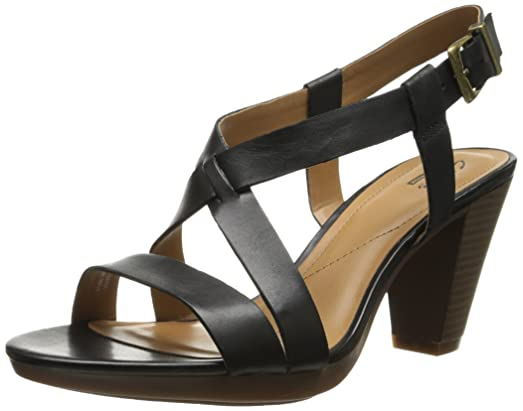Clarks Women's Jaelyn Fog Dress Sandal, Black, ...