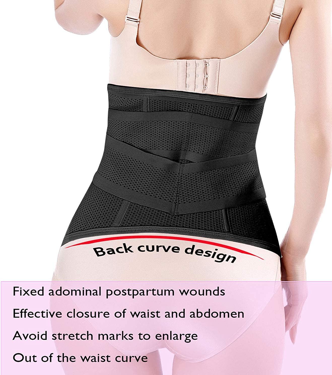 Postpartum Girdle Corset Skin-friendly Maternity Belly Wrap Belly Band for Pregnancy Tight-fitting Clothing Free Size
