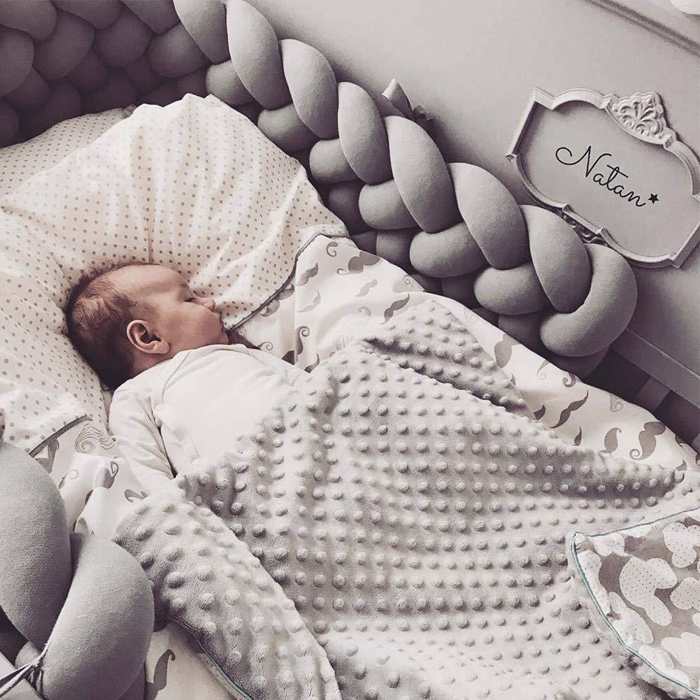 Amazon.com: Luchild - Protector de cuna de bebé trenzado ...