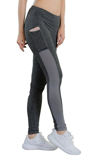apparence élégante modèle unique regard détaillé KeeCow Legging Yoga Femme Pantalon de Yoga avec Poche Collants de Jogging  Fitness Taille Haute