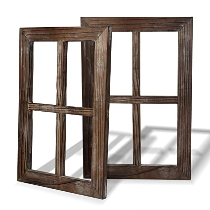 Amazon Com Cade Rustic Wall Decor Window Barnwood Frames