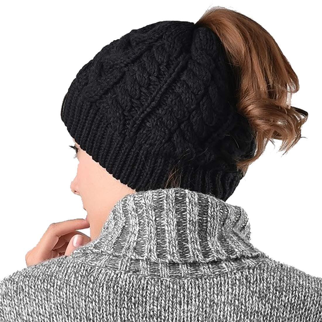 Womens Ponytail Beanie Hat 1d2d2dd6556