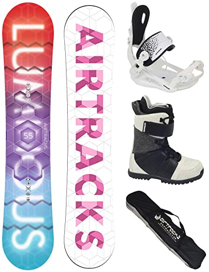 Airtracks Snowboard Set Pack Planche Luminous Femme Fixations