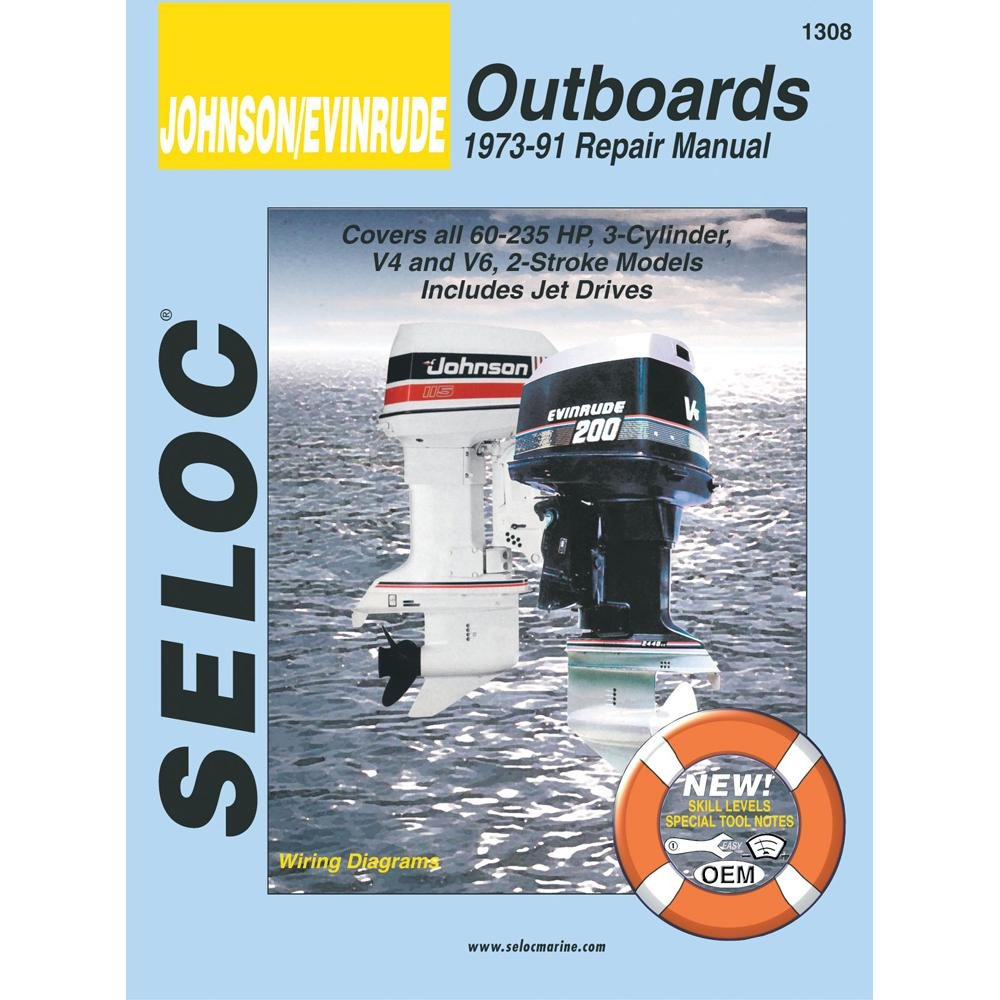 Amazon.com : Seloc Service Manual - Johnson/Evinrude - 3, 4, 6 Cyl -  1973-91 : Outboard Motors : Sports & Outdoors