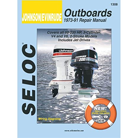 amazon com seloc service manual johnson evinrude 3 4 6 cyl
