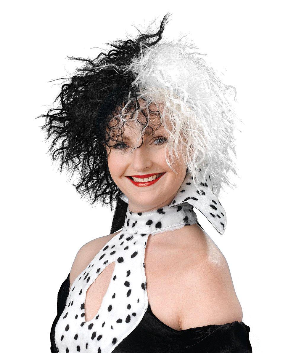 Evil Dalmation Madame Cruella Wig (perruque) Indefinido BW432
