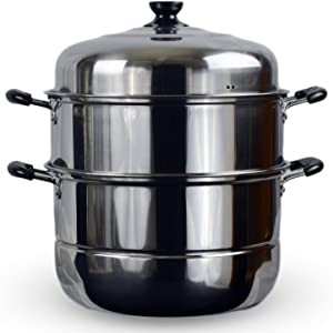 "3 Tier Stainless Steel Steamer Cookware Pot (14"")"