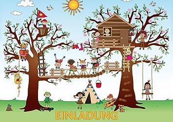 10 Er Set KLETTERPARK/Geburtstagseinladungen Kinder Mädchen Jungen/ Einladungskarten Zum Kindergeburtstag Zum