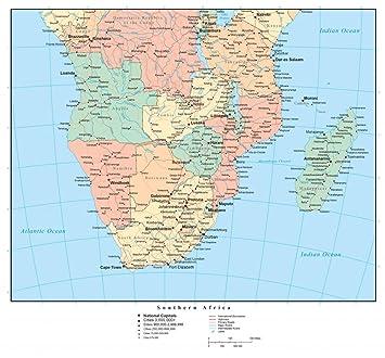Amazon Com Wallmonkeys Political Map South Africa Wall Mural Peel