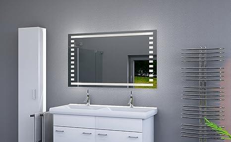 Fabulous LED beleuchteter Badspiegel mit Licht Badezimmerspiegel mit LED ZU94