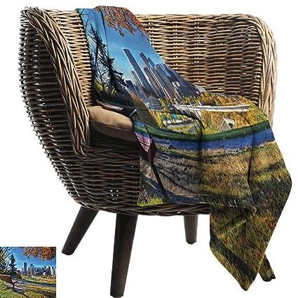 Fine Amazon Com Anshesix Lightweight Blanket City Park Bench Beatyapartments Chair Design Images Beatyapartmentscom