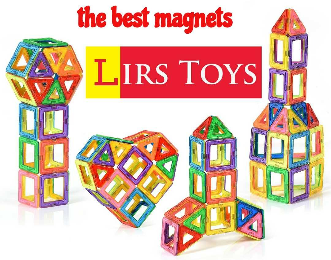 Lirs TOYS 30-pcs: Magnetic Blocks, Magnetic Tiles, Building Blocks Set For Kids/Toddlers age 3+.Creativity & Educational Toys for Boys/Girls.Premium 3D Review