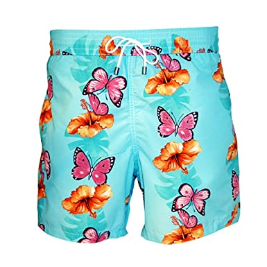 1d37f47f43 Bayahibe Men's and Boys Swimwear Shorts Quick Dry French Handmade Printed Swim  Trunk | Amazon.com