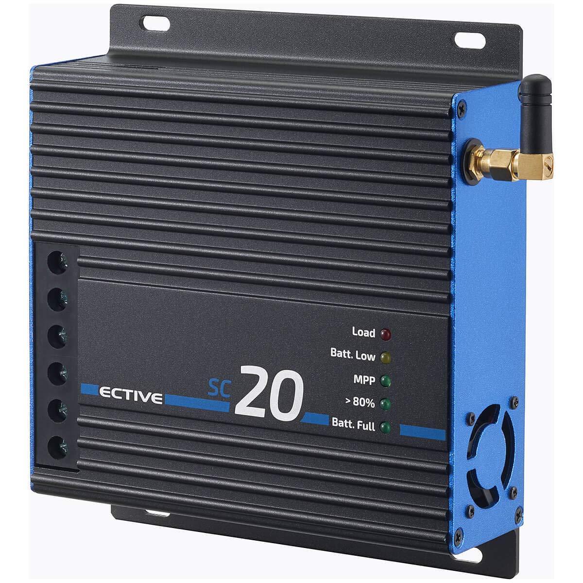 ECTIVE 20A 240Wp//480Wp MPPT Solar-Laderegler f/ür 12V//24V Versorgungsbatterien SC 20 in 4 Varianten