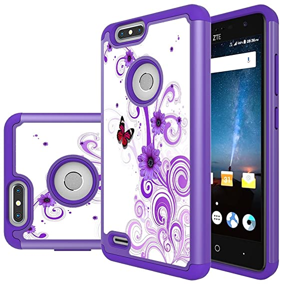 buy popular b1408 3afae Amazon.com: ZTE Blade Z Max Case, ZTE Sequoia Case, MicroP Hybrid ...