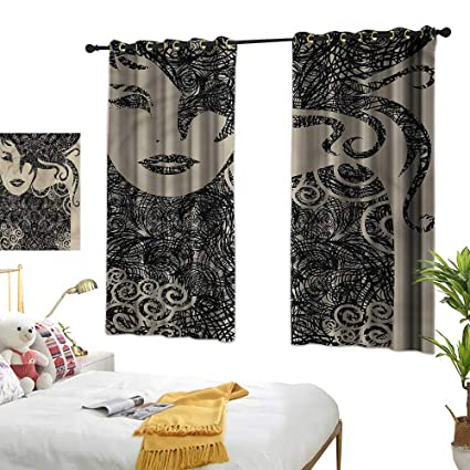Amazon.com: Living Room Curtains Modern,Woman with Cool ...
