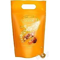 Lindt Lindor Caramel Milchschokoladenkugeln (glutenfrei – ca. 80 Kugeln) 1er Pack (1x 1kg)