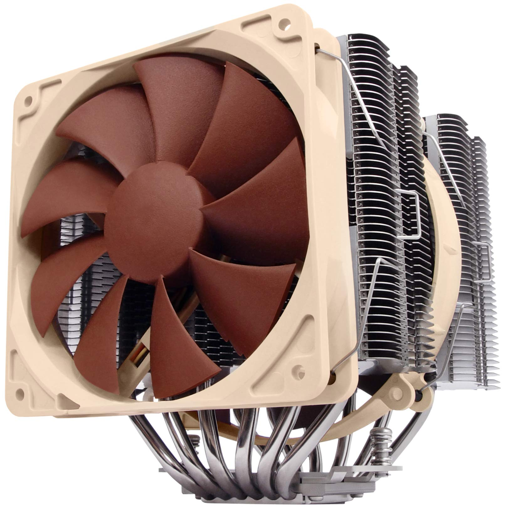 Noctua NH-D14, Premium CPU Cooler with Dual NF-P14 PWM and NF-P12 PWM Fans (Brown) by NOCTUA