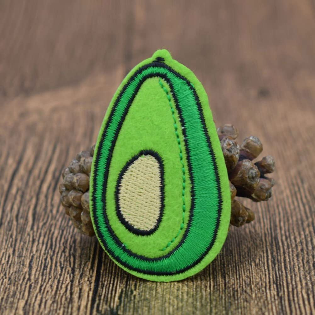 XUNHUI 10 pcs Avocado Patches Badge for Clothing Iron Embroidered Patch Applique Iron Sew on Patches Sewing Accessories for DIY Clothes